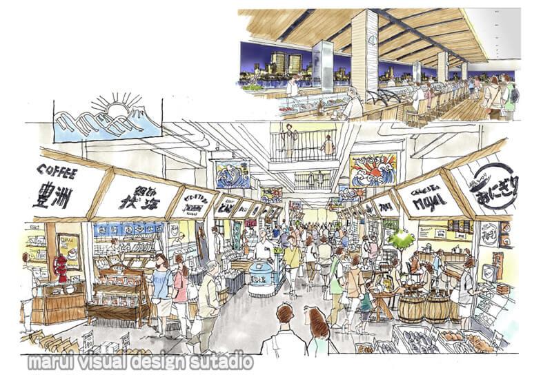KM22-魚市場 観光 お土産売り場 物産館
