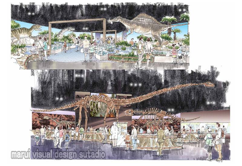 KM24-大恐竜博 展示イベント 恐竜展示イラスト